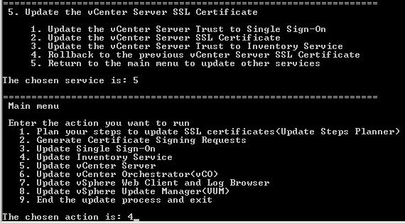 vCenter 5.5: Aktualisierung self-signed Zertifikat