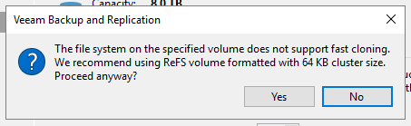 Veeam ReFS Repository on iSCSI Targets