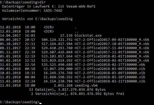 Veeam GFS on ReFS - how to see real storage consumption and